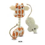 """Набор игрушек для кошек """"Жираф и мышка"""", 12*5.5/4.5cм. (EC35)"""